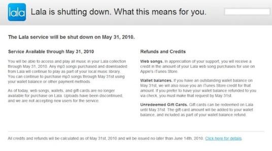 Apple cierra a Lala para anunciar un nuevo servicio - lala-explicacion