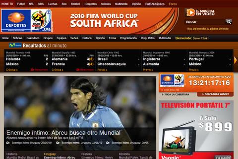 mundial en vivo por internet Ver el mundial por internet en TelevisaDeportes.com