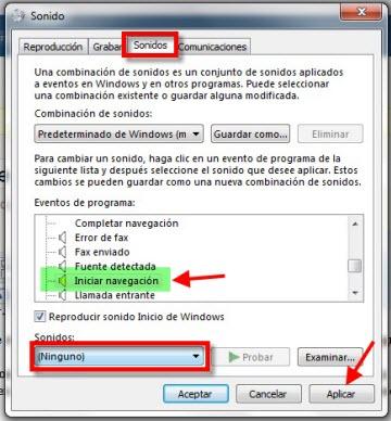 sonido iie 1 Desactiva el sonido de click de Internet Explorer