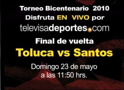 Santos vs Toluca en vivo (partido de vuelta) - toluca-santos-en-vivo