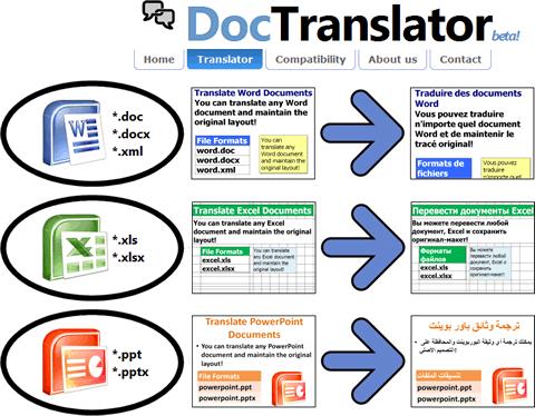 Traducir archivos de office con DocTranslator - traducir-archivos
