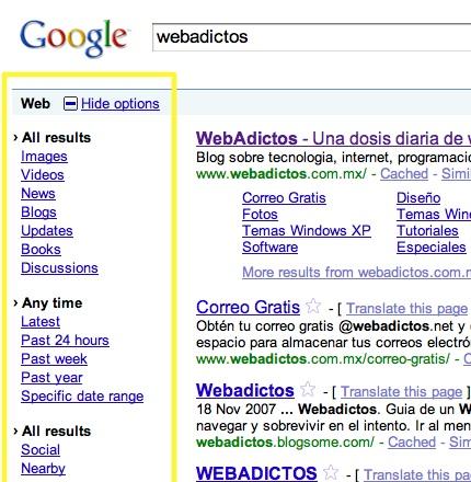 Google agrega mejoras a su motor de búsquedas - webadictos-Google-Search