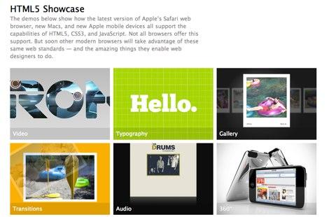 Demos html5 hechos por Apple - Apple-HTML5