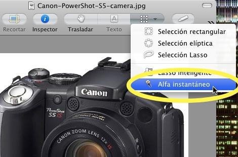 Quitar fondo imagenes con Vista Previ Elimina el fondo de una imagen en Mac