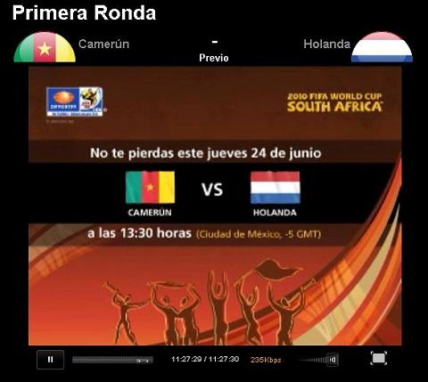 camerun holanda en vivo mundial Camerun vs Holanda en vivo