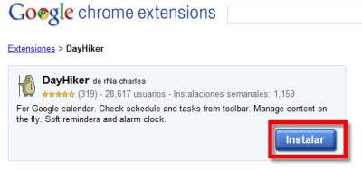 Como Integrar Google Calendar en Chrome - dayhiker