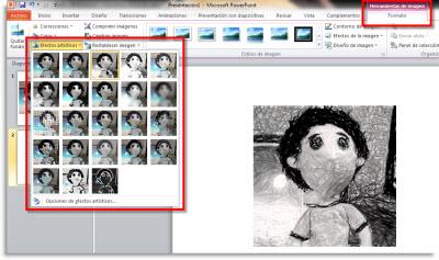 efecto artistico imagenes Efectos artisiticos a imagenes en Office 2010