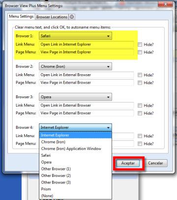 Acceder a varios navegadores desde Firefox - exploradores-alternativos