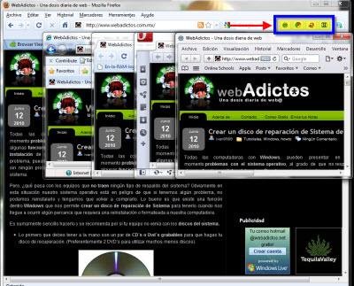 exploradores dentro firefox1 Acceder a varios navegadores desde Firefox