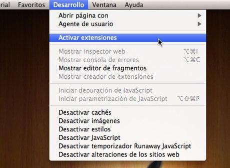 Cómo activar extensiones de Safari 5 - extensiones-safari-5-1