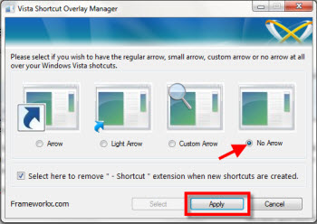 flechas acceso directo Quitar flecha de accesos directos