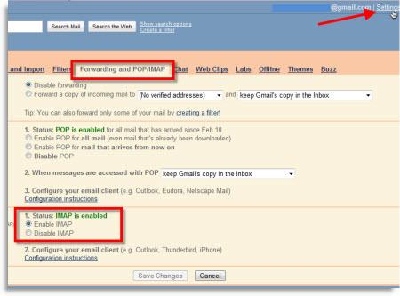 Agregar Gmail a Outlook 2010 usando IMAP - gmail-enable-imap