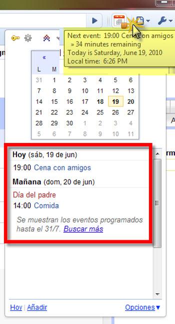 googe calendar Como Integrar Google Calendar en Chrome