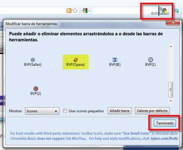 icono explorador barra herramientas Acceder a varios navegadores desde Firefox