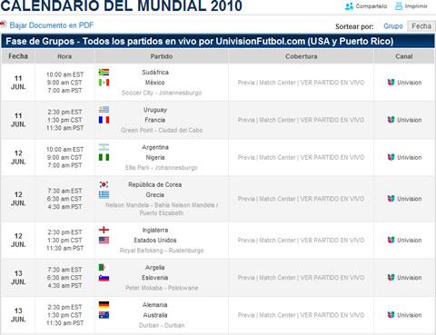 Mundial en vivo UnivisionFutbol.com - mundial-online-univision