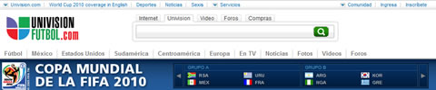 mundial por internet univision Mundial en vivo UnivisionFutbol.com