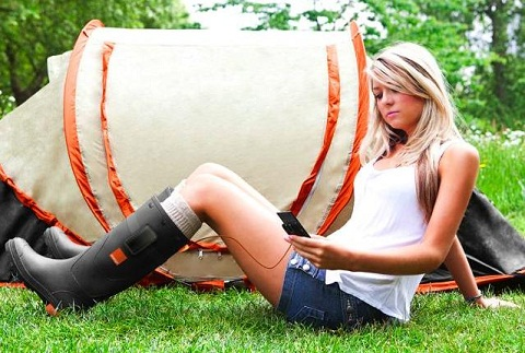 Botas cargadoras de pilas - orange-botas-cargadoras