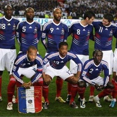 seleccion francia sudafrica2010 Grupo A, Mundial Sudafrica 2010