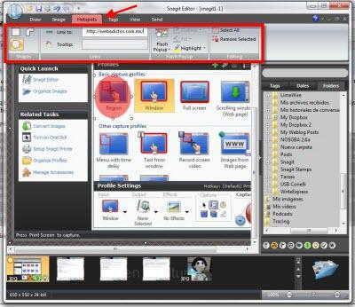 Capturas de pantalla en Windows con Snagit - snagit-editor-hotspots