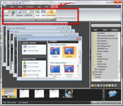 Capturas de pantalla en Windows con Snagit - snagit-editor-send