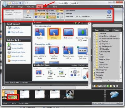 Capturas de pantalla en Windows con Snagit - snagit-editor-tags