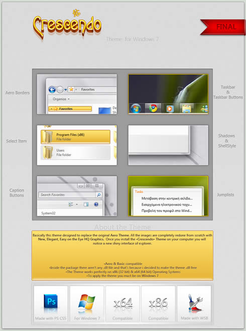 Temas windows 7, Crescendo - temas-windows-7-gratis