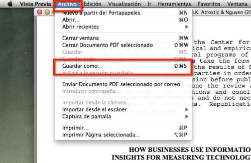 Como comprimir archivos PDF con Vistra Previa en Mac - vista-previa-pdf-1