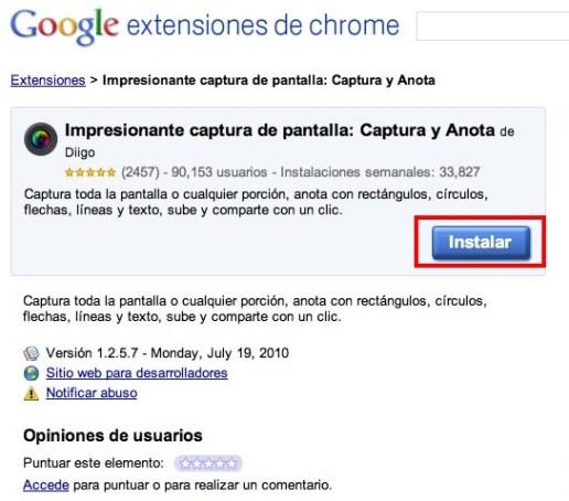 Como hacer capturas de pantalla con Google Chrome - Awesome1
