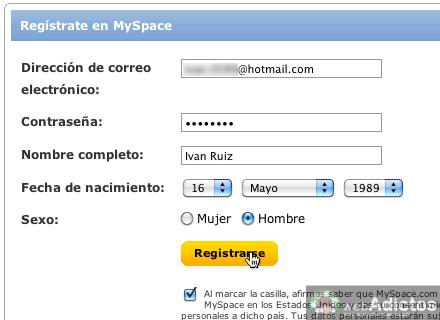 Como abrir myspace 3 Abrir cuenta MySpace