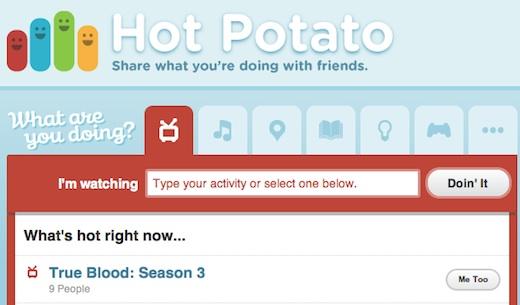 Facebook compra a la empresa de actividad social, Hot Potato - Hot-Potato