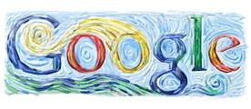 Conoce quien hace los logos de Google - Logos-Google-doodle-van_gogh