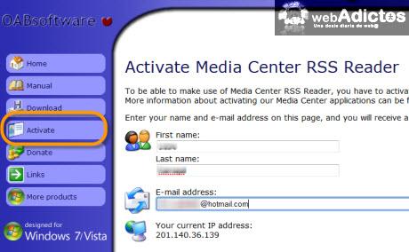 Accesa a tus RSS desde Windows Media Center - activar.media-center-rss-reader