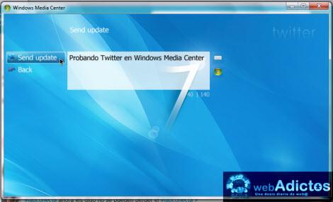 Revisa tu Twitter desde Windows Media Center - actualizar-twitter-media-center