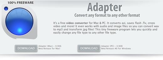 Convertir archivos multimedia con Adapter - adapter