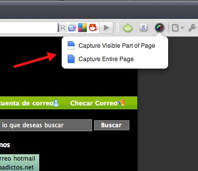 Como hacer capturas de pantalla con Google Chrome - awesome3