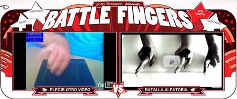 Battle Fingers por Sony Ericsson - baile-de-dedos