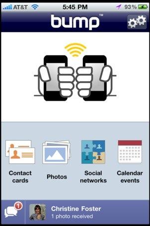 Transfiere fotos y redes sociales en el iPhone con Bump 2.0 - bump2-20100726-141049