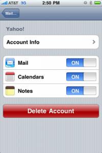 Sincronizar calendario yahoo y contactos en iPhone - calendario-yahoo