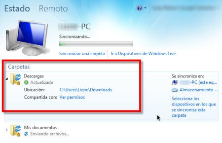carpetas sincronizar live sync Configurar Windows Live Sync Beta
