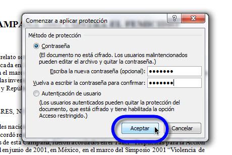 Aumentar la seguridad en tus documentos de Office 2010 - comenzar-a-aplicar-proteccion