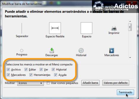 Compacta tu barra de herramientas en Firefox - compactar-menu-de-herramientas