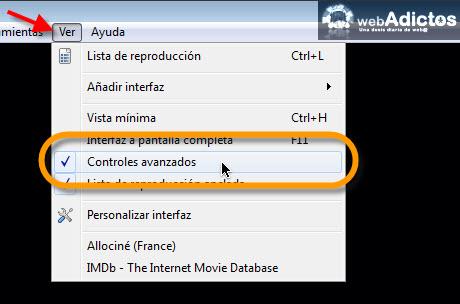 Copiar un DVD con VLC - controles-avanzados-vlc