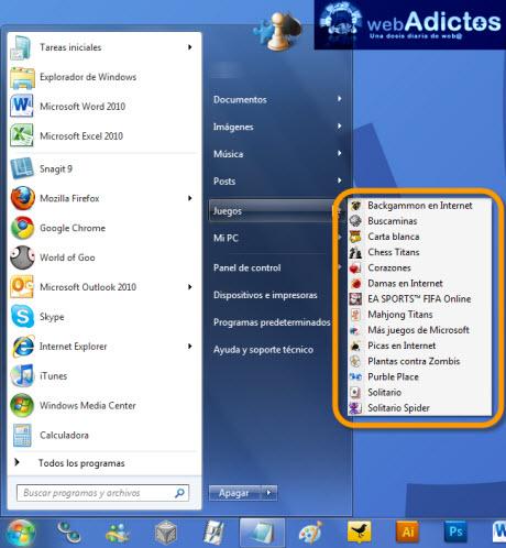 desactivar juegos windows 7 Desactivar juegos en Windows 7