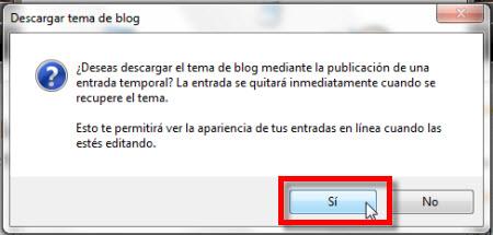 descargar.tema de blog Configurar Windows Live Writer Beta