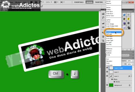 Crear una cinta adhesiva en Photoshop - duplicar-capa-photoshop1
