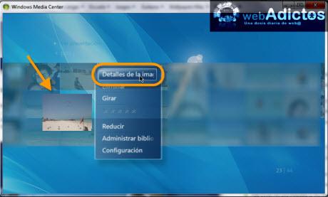 editar imagenes windows media center Editar imagenes en Windows Media Center