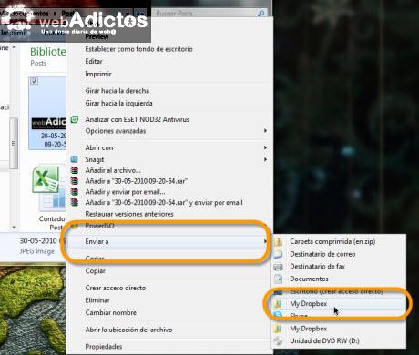 Añadir Dropbox al menú Enviar a... en Windows 7 - enviar-a-dropbox