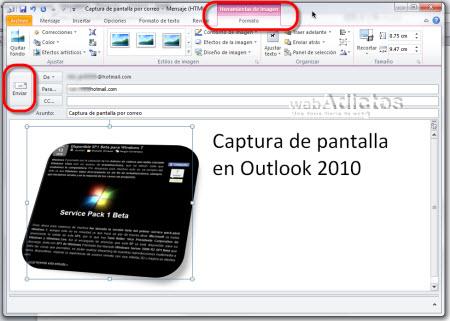 Enviar una captura de pantalla en Outlook 2010 - enviar-correo-con-captura-de-pantalla