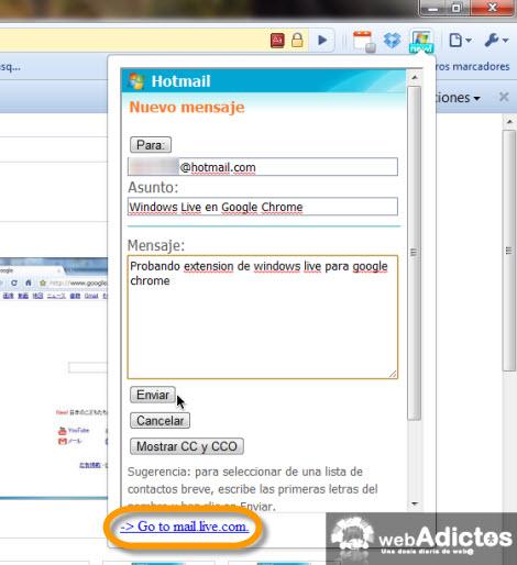 escribir correo desde chrome Checar correo hotmail desde Google Chrome