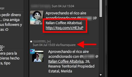 forsquare en tweetdeck Agregar nueva localización en Foursquare